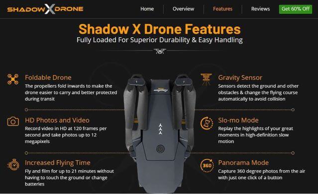 shadow x drone reviews