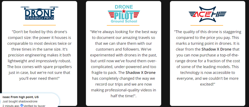 shadow x drone customer reviews